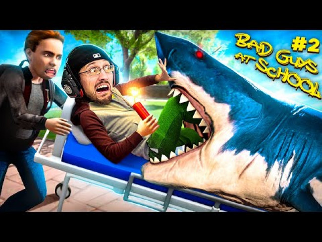 Bad Guys At School 2!  Bullies Made Me DO THIS! (FGTeeV vs SHARK)