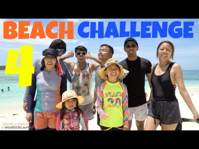 BEACH CHALLENGE 4 | KAYCEE & RACHEL in WONDERLAND FAMILY