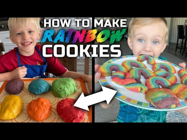 Best Rainbow Cookies Recipe || Family Fun Pack Cooking