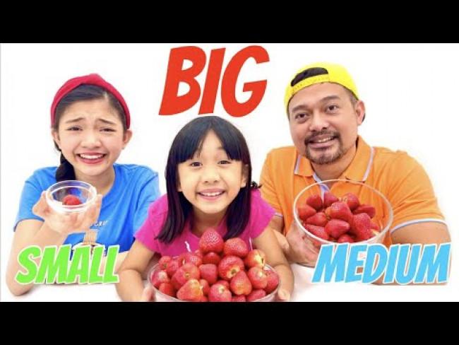 BIG VS MEDIUM VS SMALL BOWL CHALLENGE | KAYCEE & RACHEL in WONDERLAND FAMILY