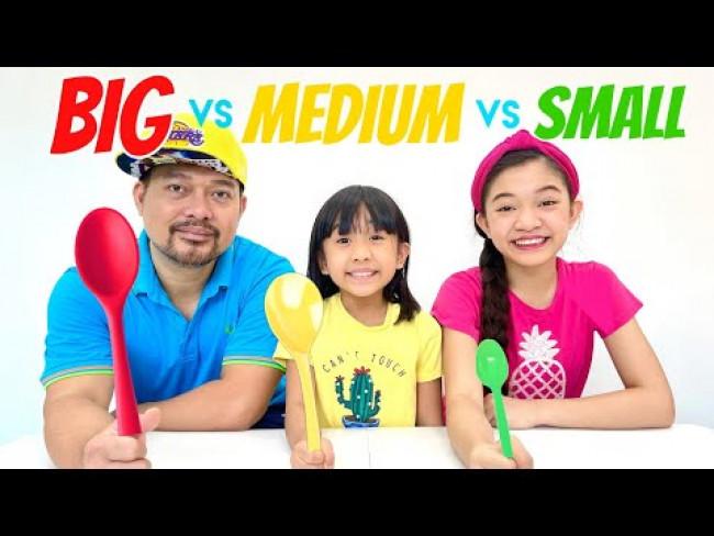 BIG VS MIDEUM VS SMALL SPOON CHALLENGE