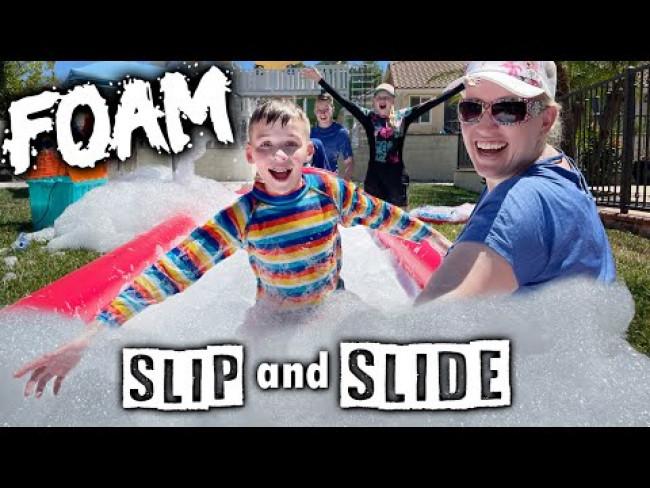 BIGGEST FOAM MESS Ever on our GIANT Slip n Slide!