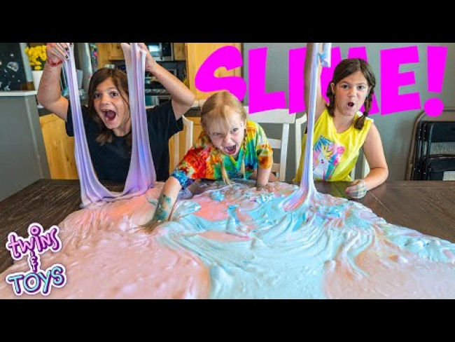 BIGGEST slime ever DIY science experiment! With special friend Infinity Lightspeed!