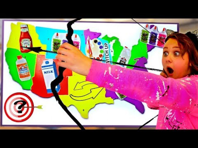BOW AND ARROW AT THE MAP FOR SLIME CHALLENGE!!!