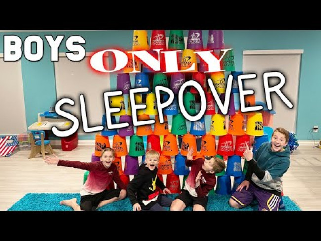 BOYS ONLY Brothers Sleepover NO PARENTS!!