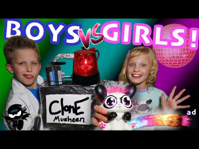 Boys vs Girls! Cloning Toys! Lil' Gleemerz