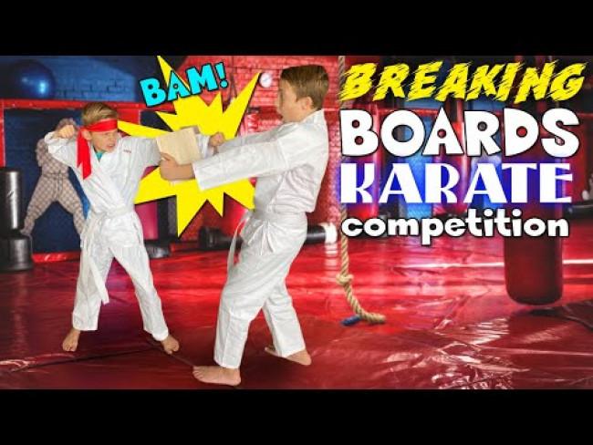 BROKE the Karate Board with My HEAD!!