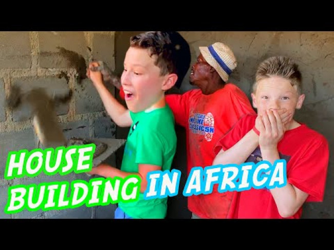 Building a house in Africa with my brother Ashton!