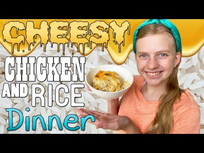 Cheesy Chicken & Rice Dinner Recipe || Family Fun Pack Cooking