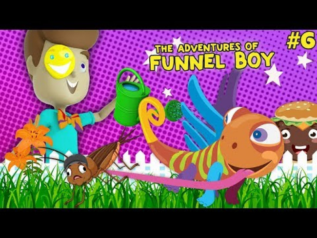 Clarence from DOH MUCH FUN is a Gardener? (The Adventures of FUNnel Boy #6) Kids Animation