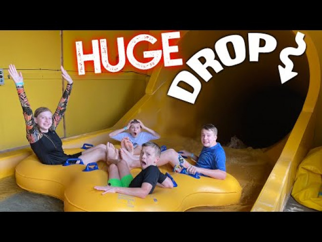 Conquering the Steepest Drop at Great Wolf Lodge