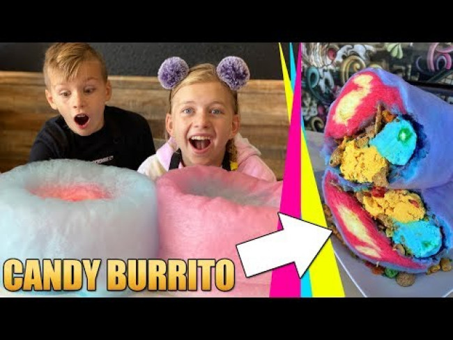 Cotton Candy Burrito Challenge!! Who Makes it Best??