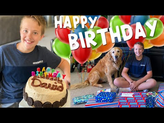 David's 12th Birthday in Quarantine!!
