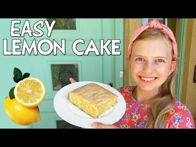 Delicious Lemon Drizzle Cake Recipe || Family Fun Pack Cooking