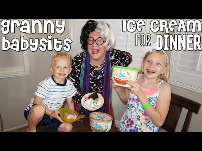 Dinner with Babysitter Granny {skit}