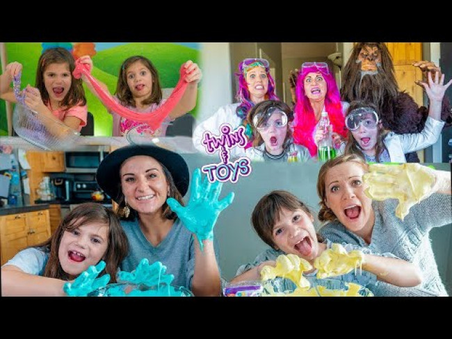DIY Science Experiments! Make Fluffy Slime, BIGFOOT, and Magic Drinks with Twins Kate & Lilly!
