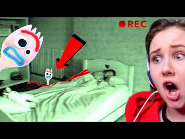 DO NOT RECORD BONNIE FROM TOY STORY 4 SLEEPING AT 3AM!!!! FORKY CAUGHT MOVING ON CAMERA!!