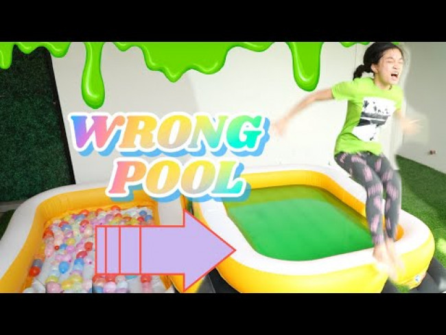 DON'T TRUST FALL INTO THE WRONG POOL CHALLENGE | KAYCEE & RACHEL in WONDERLAND FAMILY