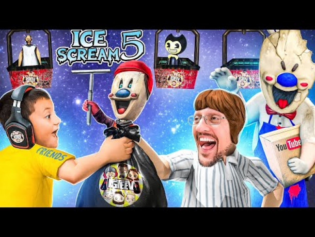 Double Chubby Trash!  Ice Scream Rod Delivers MYSTERY Youtube Box! (IS5: Friends - Mikes Adventure)