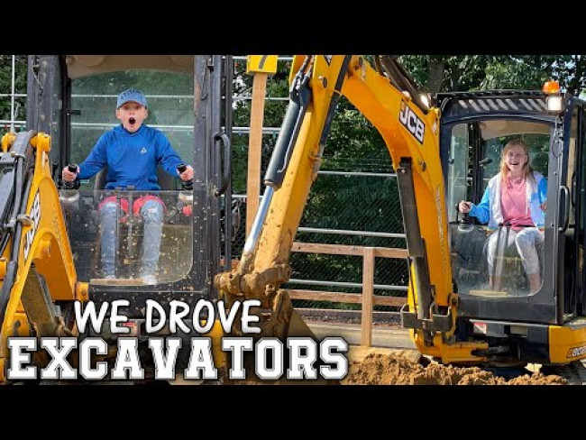 Driving REAL Tractors at Diggerland, New Jersey!
