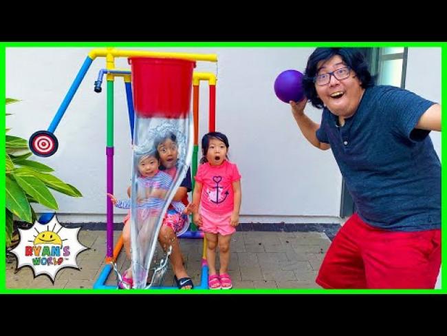 Dunk Tank Challenge Kids vs Parents Family Fun Activities!