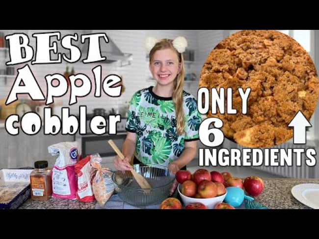 Easy Apple Cobbler Recipe || Family Fun Pack Cooking