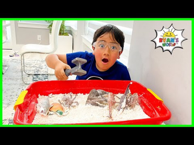 Easy DIY Science Experiment for Kids How to make Dinosaur Fossil Dig Exploration!