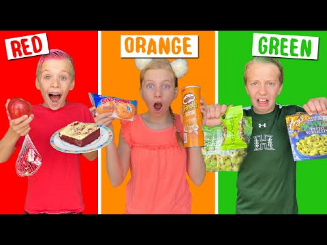 Eating Only ONE Color of Food for 24 Hours on Teams!!