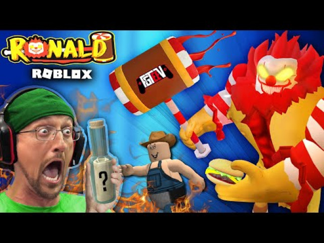ESCAPE ROBLOX RONALD & the Worst McDonalds!  FGTeeV PC Almost FRIED by Evil Clown Game!!