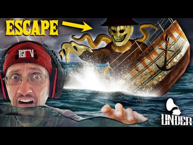 ESCAPE the Haunted TITANIC Sinking Ship! FGTEEV goes UNDER the SEA