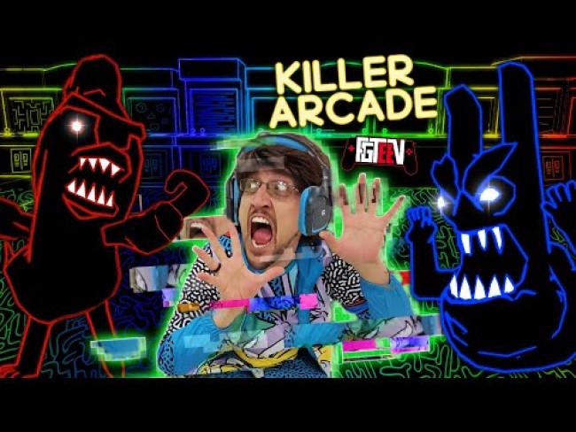ESCAPE the KILLER ARCADE!  FGTeeV gets sucked INTO THE GAME!