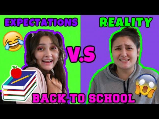 EXPECTATIONS vs REALITY: BACK to SCHOOL! The TOYTASTIC Sisters. FUNNY KIDS SKIT!