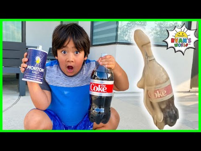 Experiment Coca Cola and Mento vs Cola Cola vs Coke! Easy DIY Science Experiments for kids!