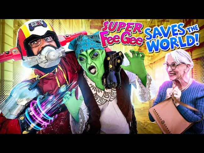 FGTeeV Saves the World: a Day in the Life of Superheroes FeeGee (Skit)