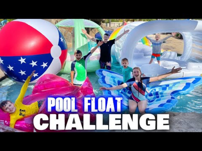 Filling Our ENTIRE Pool With World's Largest Floats Challenge
