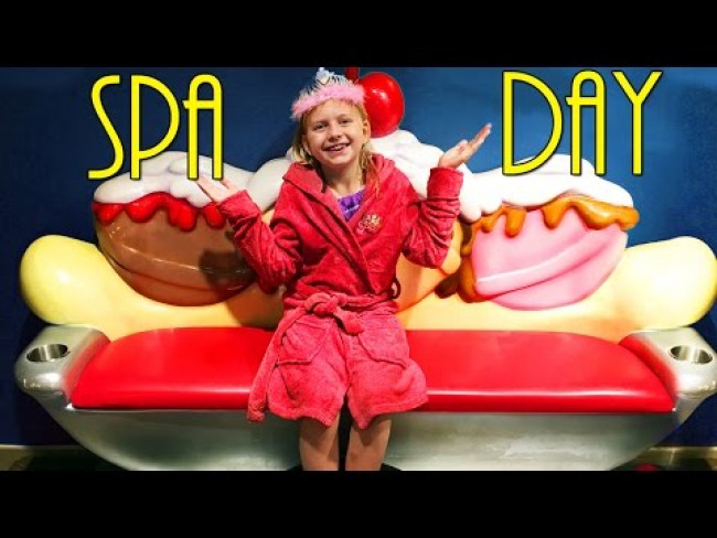 FIRST SPA DAY!! Pedicure, Hair & Ice Cream Cones at Scoops Kids Spa Great Wolf Lodge