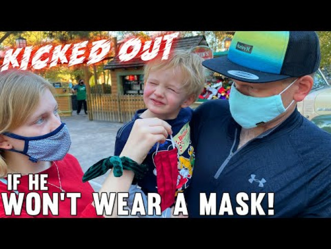 Forcing a Mask on a 3 year old is Not Easy!