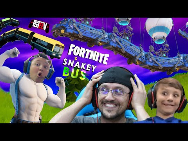 FORTNITE x SNAKEY BUS (FGTeeV Bonus Content during Good Old Quarantine Days)