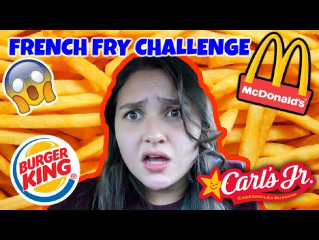FRENCH FRY CHALLENGE! Going to MCDONALDS and BURGER KING! SNACKING with SIS.The TOYTASTIC Sisters.