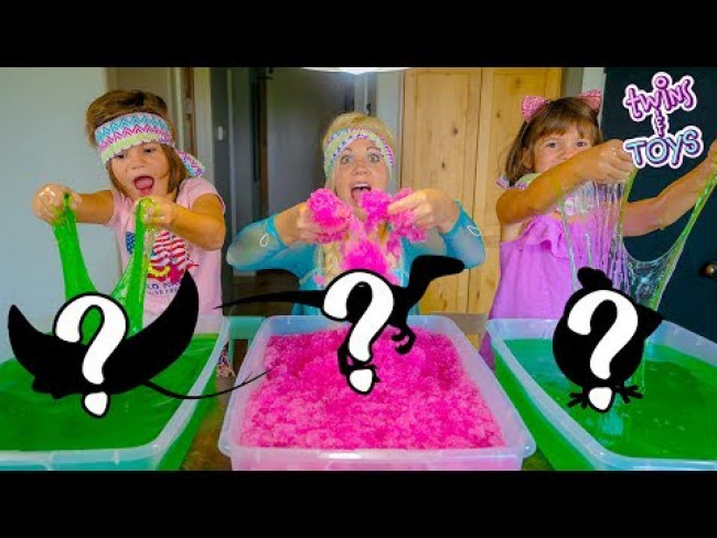 Frozen Elsa Challenge! What's in the Box SLIME Edition!!