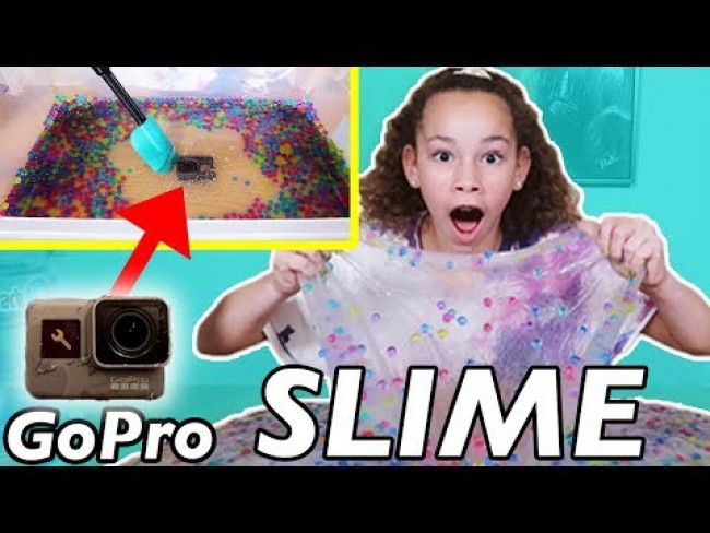 GIANT RAINBOW ORBEEZ SLIME!! Olivia Covered Our GoPro In One Gallon Of Orbeez Slime!!!