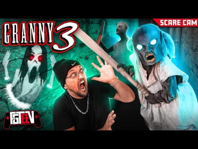 Granny 3!  Slendrina's Mom Scares Us IRL! Beat The Game 1st Try!