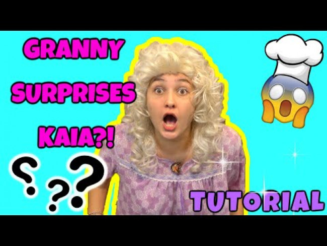 GRANNY makes KAIA a SURPRISE! TUTORIAL! EASY Dessert RECIPE! The TOYTASTIC Sisters. FUNNY SKIT!