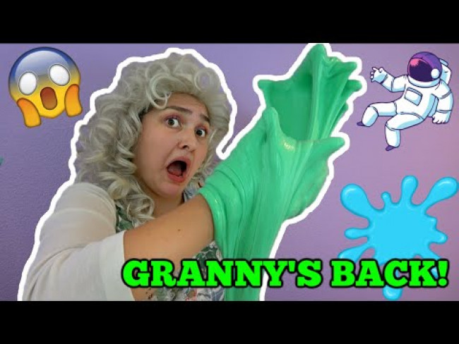 GRANNY makes SLIME! STORIES and SLIME. TUTORIAL! The TOYTASTIC Sisters. FUNNY SKIT!