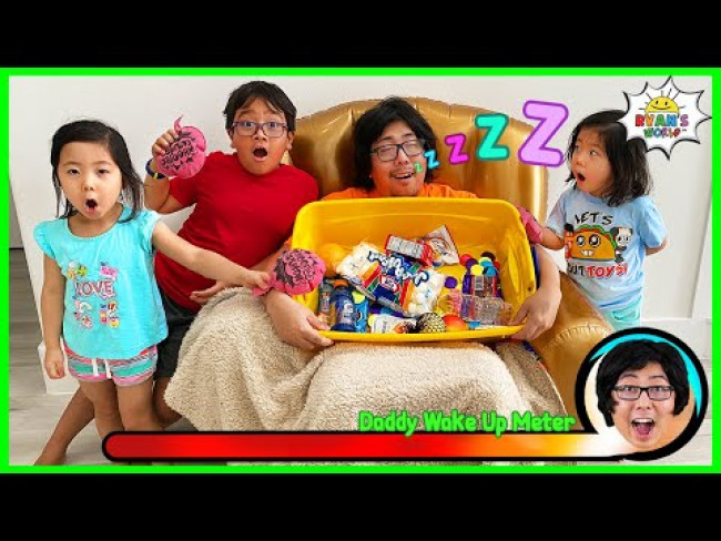Greedy Daddy In Real Life!  Pretend Play Don't Wake Daddy Challenge!
