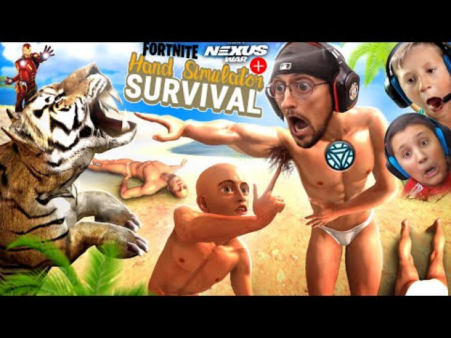 HAND SIMULATOR SURVIVAL (FGTeeV Hilarious Survival Co-Op Game) Fortnite Ch 2 S4