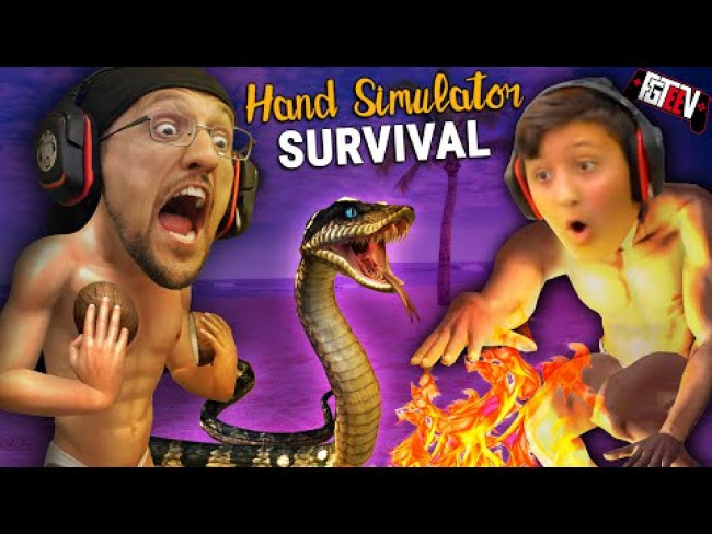 HAND SIMULATOR!  Do You Like My Coconuts?  Hahaha (FGTeeV Hilarious Survival Co-Op Game)