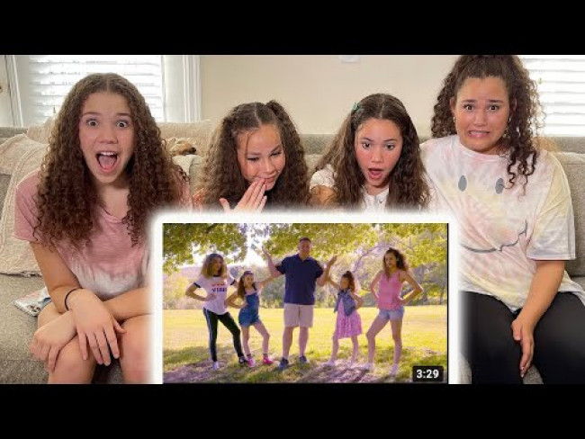 """Haschak Sisters REACT to """"Daddy Says No"""" (Music Video)"""