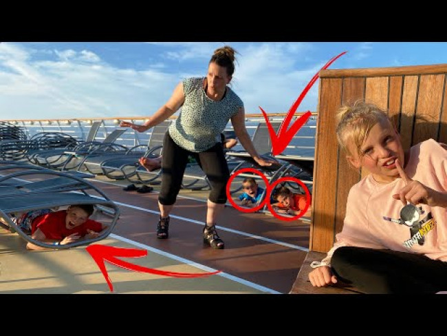 Hide and Seek from mom and dad on a Cruise Ship!