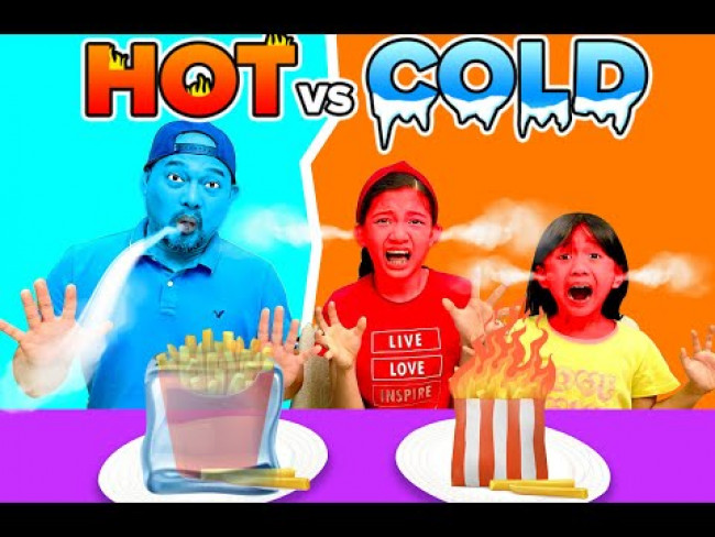 HOT VS. COLD FOOD CHALLENGE | KAYCEE & RACHEL in WONDERLAND FAMILY